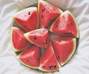 food, red, and watermelon image