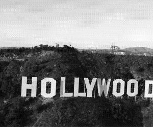 black, black and white, and hollywood image
