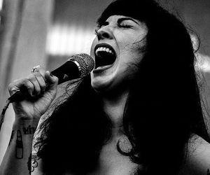 blanco y negro, cantando, and mon image