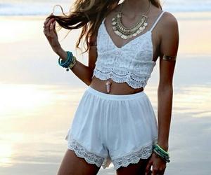 beach, beauty, and jewelery image