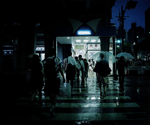 dark, japan, and people image