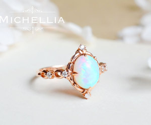 etsy, victorian ring, and october birthstone image