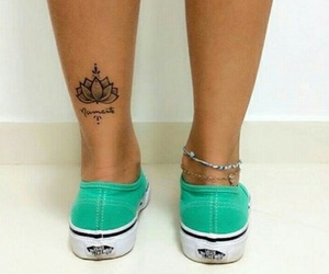tattoo, vans, and flower image