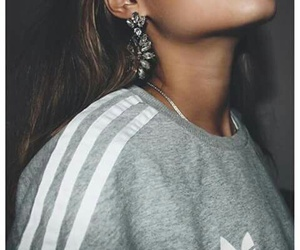 adidas, earrings, and fashion image