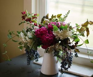 floral arrangement, flowers, and fresh flowers image