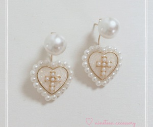 accessory, cross, and earrings image