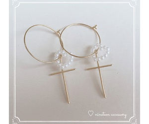 accessory, earrings, and heart image