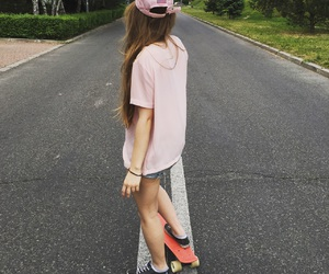 skate, pennyboard, and summer image