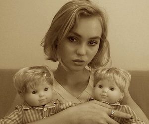 baby, lily rose depp, and sepia image