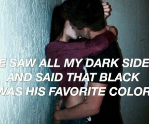 quotes, love, and black image