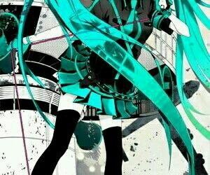 hatsune miku, vocaloid, and miku hatsune image