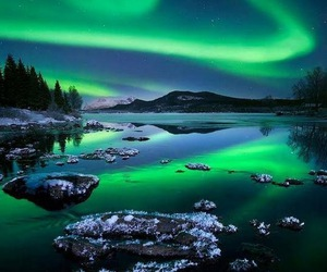 nature, aurora borealis, and green image