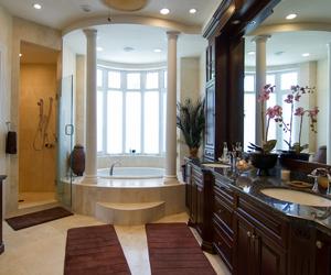 bathroom, decor, and dream home image
