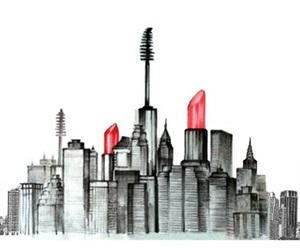city, makeup, and lipstick image