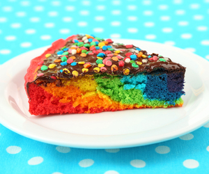 cake, colors, and delicious image