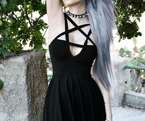 black, girl, and gothic image