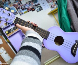 guitar, purple, and tumblr image