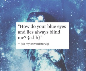quote, blind, and lies image