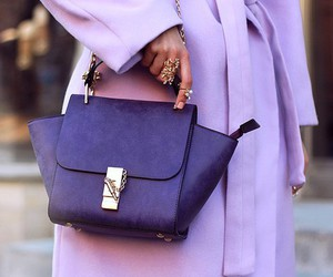 fashion, coat, and purple image