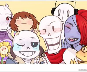 papyrus, alphys, and sans image