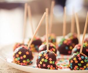 chocolate, stars, and food image