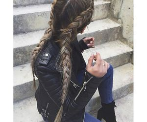 boot, braid, and clothes image