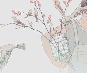 art, bird, and aesthetic image