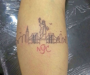 new york, tattoo, and city love image