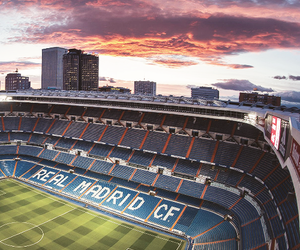 real madrid, santiago bernabeu, and stadium image