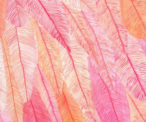 wallpaper, pink, and feather image