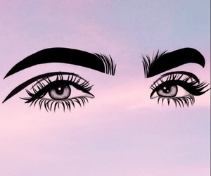 eyes, wallpaper, and eyebrows image