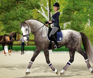 horse, the sims, and horse riding image