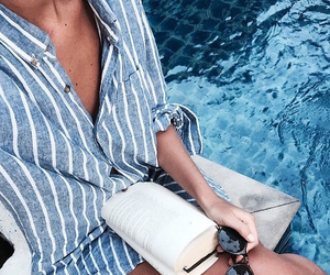 blue, pool, and shirt image