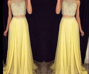 long dress, separated, and prom gown image
