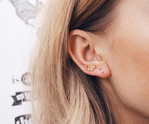 accessories, constelation, and earrings image