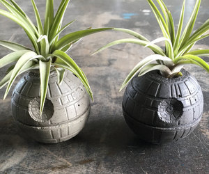 air plant, concrete, and darth vader image