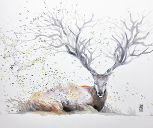art and deer image
