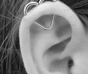 heart, piercing, and ear image