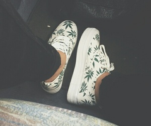 shoes, weed, and white image