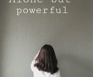 alone, girl, and power image