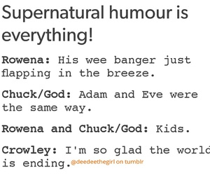 chuck, crowley, and funny image