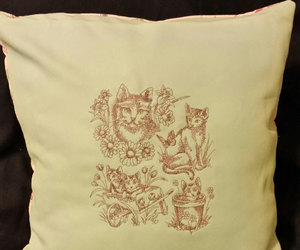 etsy, home decor, and embroidered pillow image