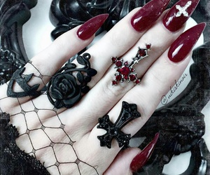 nails, witch, and Darkness image