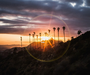 hollywood, sunset, and light image