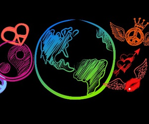 amor, colores, and mundo image