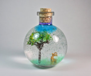 etsy, miniature bottle, and nature in a bottle image