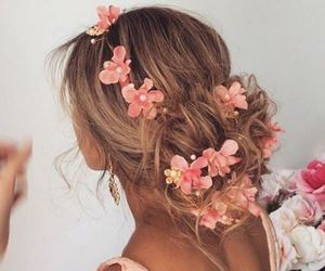 hair, flowers, and goals image