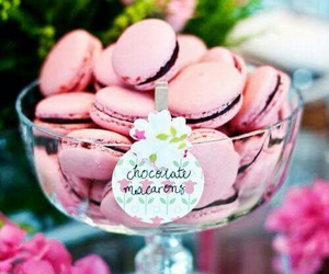 pink, food, and chocolate image
