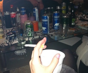 cigarette, drink, and party image