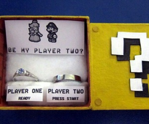 mario, game, and proposal image